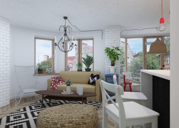 Фотография: Гостиная в стиле Скандинавский, Квартира, Дома и квартиры, IKEA – фото на INMYROOM