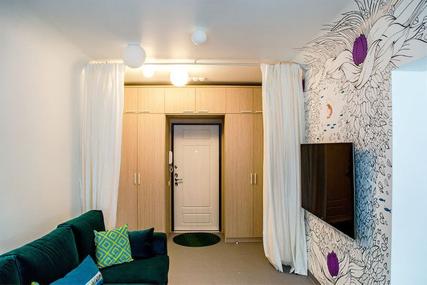 Фотография: Гостиная в стиле Современный, Кухня и столовая, Интерьер комнат, Elle Decoration – фото на INMYROOM