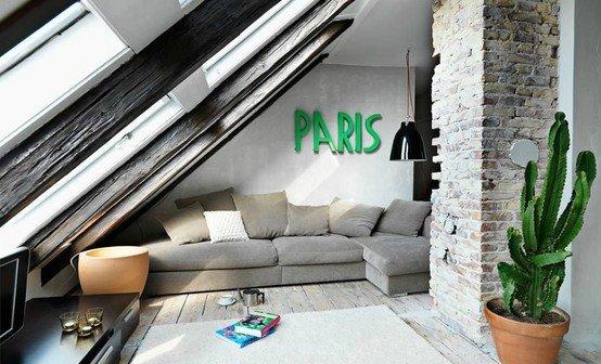 Фотография: Гостиная в стиле Лофт, Дом, Чердак, Мансарда – фото на INMYROOM