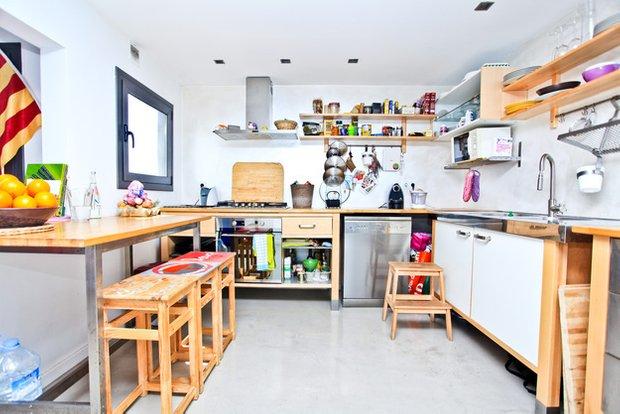 Фотография: Кухня и столовая в стиле Скандинавский, Квартира, Дома и квартиры, Барселона – фото на INMYROOM