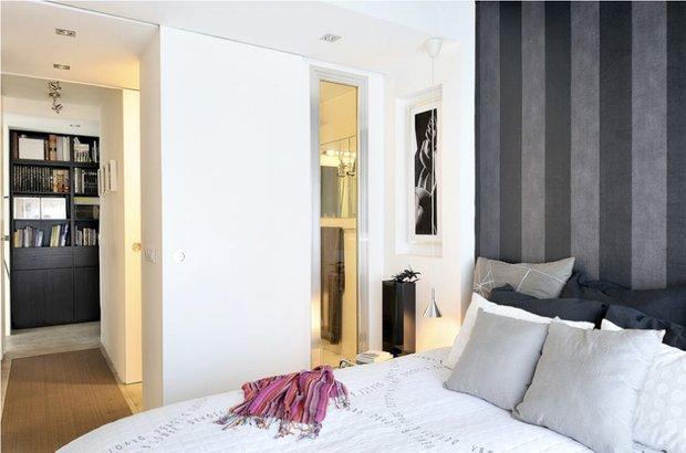 Фотография: Спальня в стиле Современный, Декор интерьера, Квартира, Цвет в интерьере, Дома и квартиры, Стены, Мадрид – фото на INMYROOM