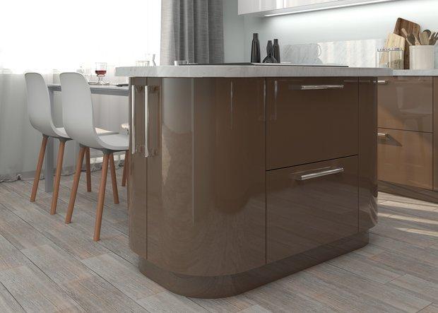 Фотография:  в стиле , Кухня и столовая, Перепланировка, планировка кухни, Mr.Doors, МПСМ – фото на INMYROOM