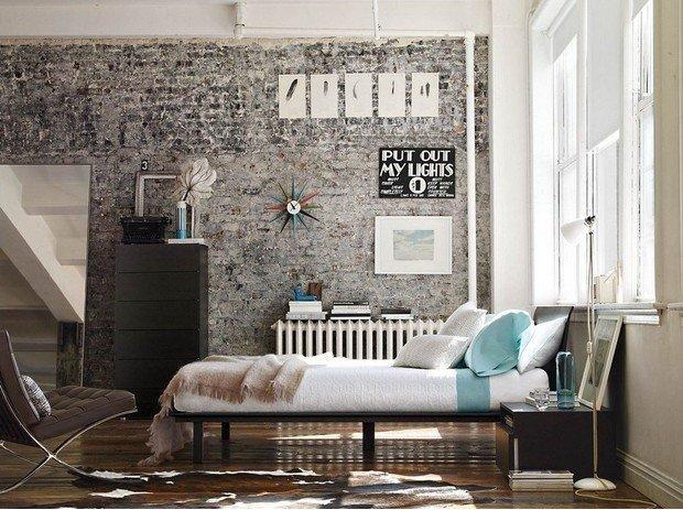Фотография: Спальня в стиле Лофт, Декор интерьера, Малогабаритная квартира, Квартира, Дома и квартиры – фото на InMyRoom.ru