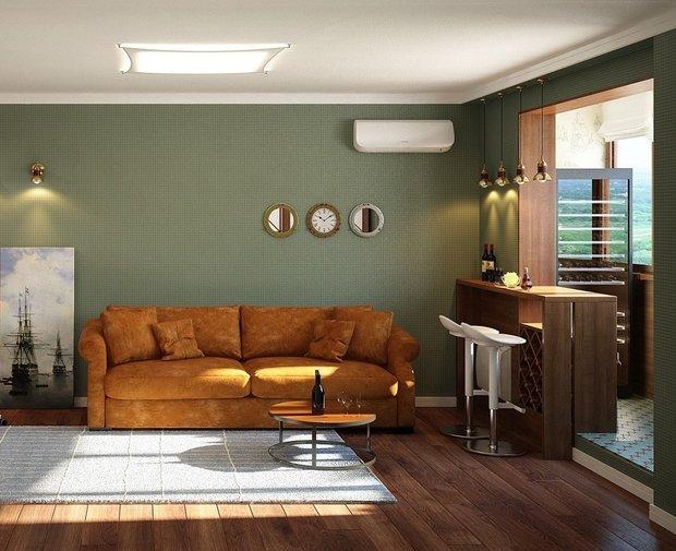 Фотография: Гостиная в стиле Современный, Советы, Зеленый – фото на INMYROOM