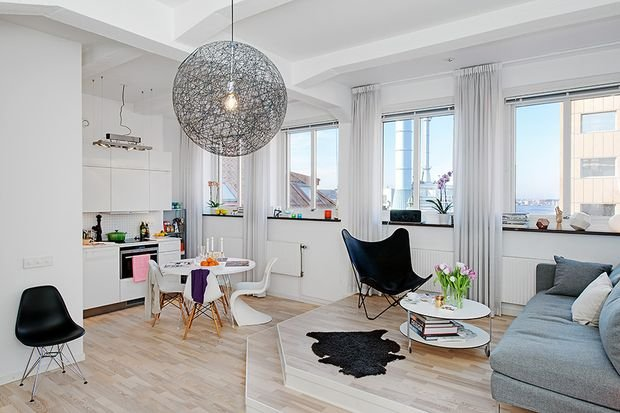 Фотография: Прихожая в стиле Скандинавский, Декор интерьера, Малогабаритная квартира, Квартира, Студия, Планировки, Мебель и свет – фото на INMYROOM