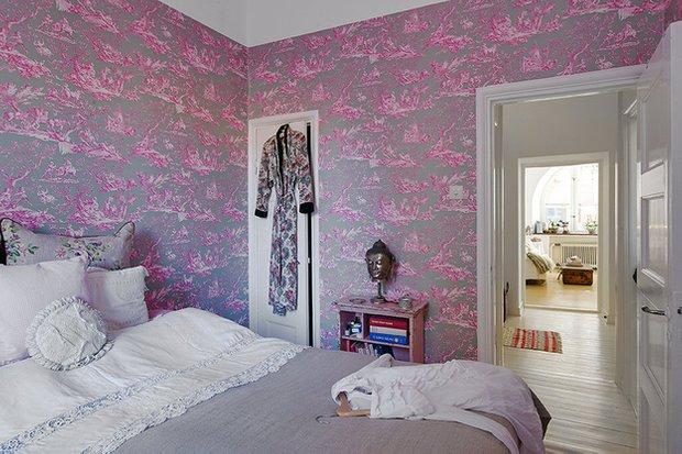 Фотография: Спальня в стиле Скандинавский, Малогабаритная квартира, Квартира, Швеция, Франция, Дома и квартиры – фото на INMYROOM