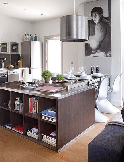 Фотография: Кухня и столовая в стиле Современный, Декор интерьера, Малогабаритная квартира, Квартира, Дома и квартиры, Пол, Индустриальный – фото на INMYROOM
