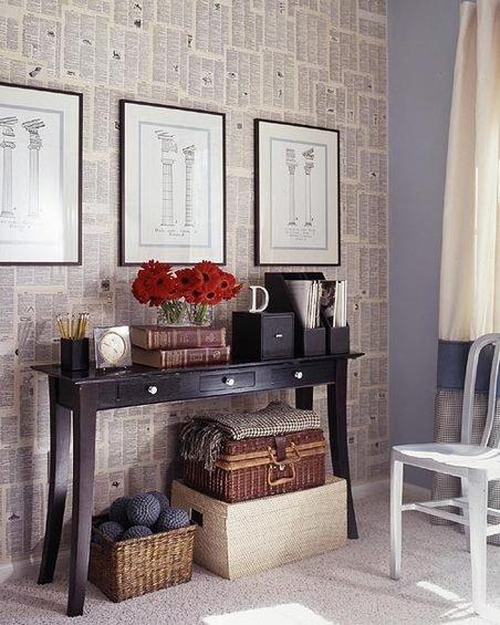Фотография: Мебель и свет в стиле Прованс и Кантри, Декор интерьера, Декор дома, Цвет в интерьере, Обои – фото на InMyRoom.ru