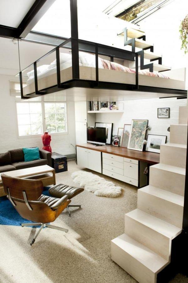 Фотография: Гостиная в стиле Современный, Советы, Бежевый, Серый, Мебель-трансформер, кровать-трансформер, диван-кровать – фото на INMYROOM