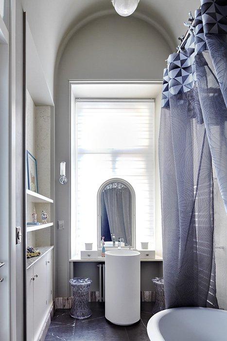 Фотография: Ванная в стиле Скандинавский, Квартира, Дома и квартиры, Перепланировка – фото на INMYROOM