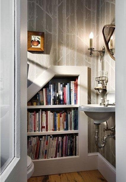 Фотография: Ванная в стиле Классический, Современный, Системы хранения, Библиотека, Домашняя библиотека – фото на INMYROOM
