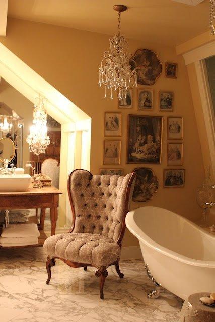 Фотография: Ванная в стиле Классический, Декор интерьера, Интерьер комнат, Викторианский – фото на INMYROOM