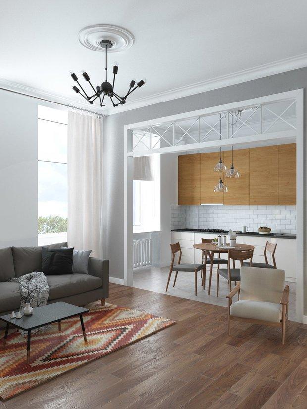 Фотография: Кухня и столовая в стиле Скандинавский, Советы, напольное покрытие, ламинат, ламинат в квартире, Quick Step – фото на INMYROOM