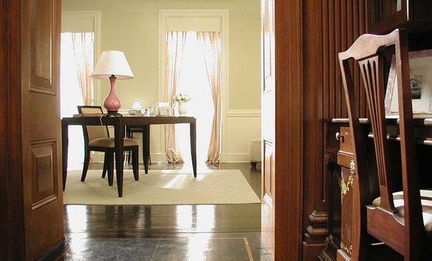 Фотография: Гостиная в стиле Прованс и Кантри, Квартира, Цвет в интерьере, Дома и квартиры, Советы – фото на INMYROOM