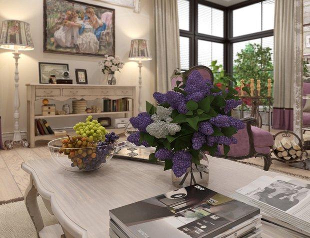 Фотография: Гостиная в стиле Прованс и Кантри, Классический, Дом, Дома и квартиры, Прованс, Проект недели – фото на INMYROOM