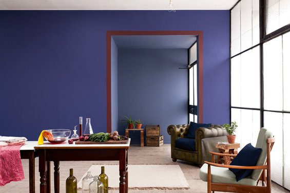 Фотография: Гостиная в стиле Эклектика, Декор интерьера, Дизайн интерьера, Цвет в интерьере, Dulux, ColourFutures, Akzonobel, Краски – фото на InMyRoom.ru