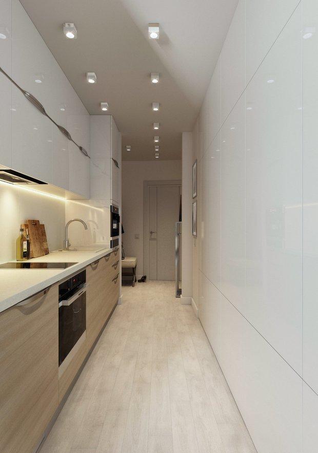Фотография: Кухня и столовая в стиле Минимализм, Советы, Стеновые панели, хранение вещей, хранение вещей в маленькой квартире, однокомнатная квартира, однушка, 1 комната, Kronospan – фото на INMYROOM