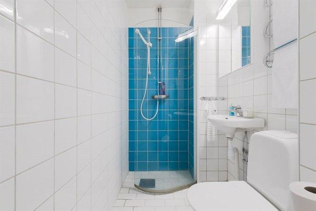Фотография: Ванная в стиле Скандинавский, Малогабаритная квартира, Квартира, Дома и квартиры, Проект недели – фото на INMYROOM