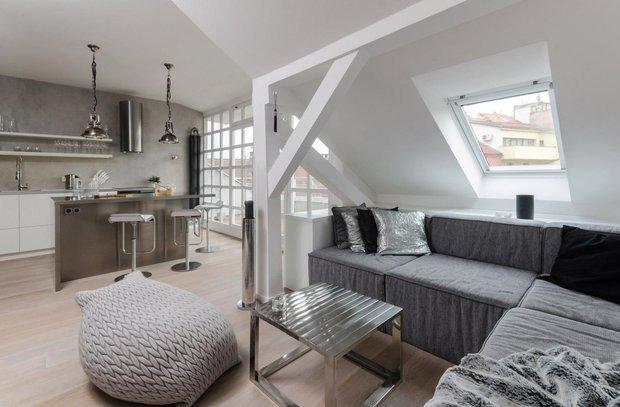 Фотография: Гостиная в стиле Скандинавский, Квартира, Дома и квартиры, Минимализм – фото на INMYROOM