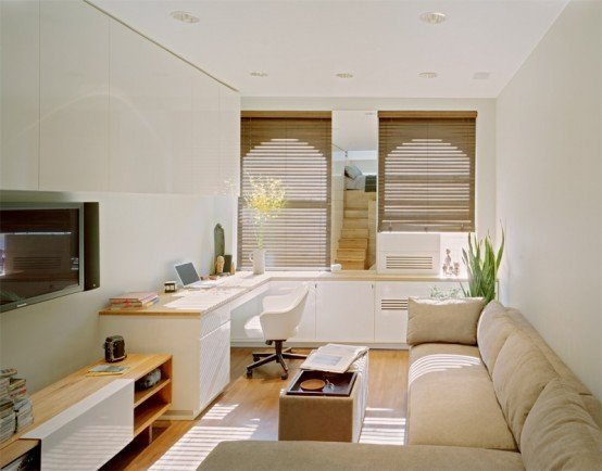 Фотография: Кабинет в стиле Эко, Декор интерьера, Малогабаритная квартира, Квартира, Цвет в интерьере, Дома и квартиры, Белый – фото на INMYROOM