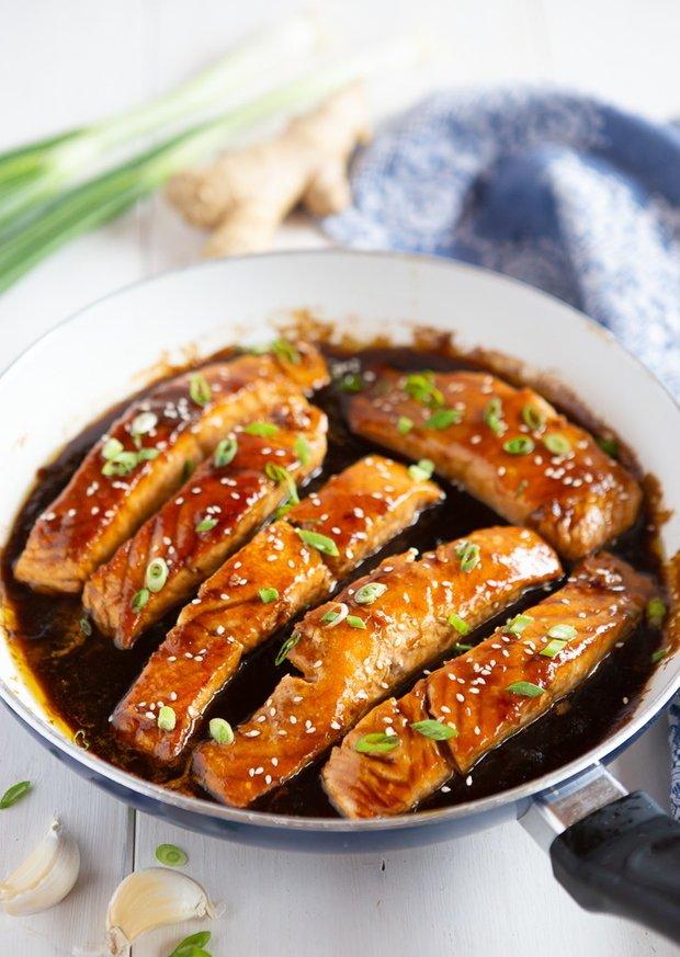 Фотография:  в стиле , Малогабаритная квартира, Основное блюдо, Здоровое питание, Жарить, Кулинарные рецепты, Азиатская кухня, Просто, Лосось – фото на INMYROOM