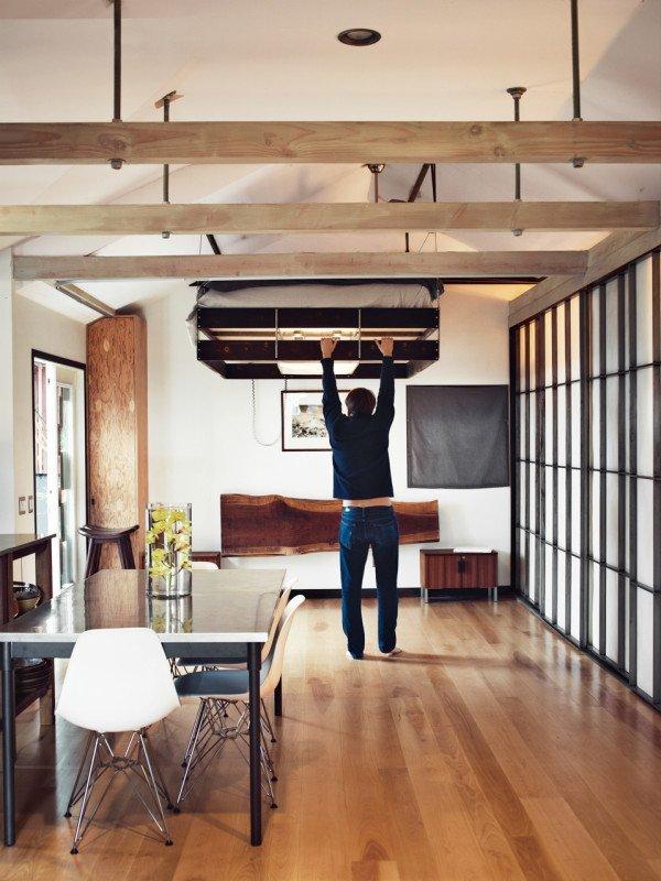 Фотография: Кухня и столовая в стиле Современный, Малогабаритная квартира, Квартира, Дома и квартиры, Советы, Мебель-трансформер – фото на INMYROOM