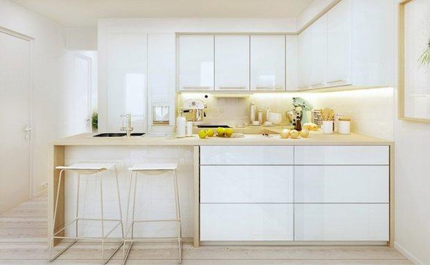 Фотография: Кухня и столовая в стиле Современный, Цвет в интерьере, Стиль жизни, Советы, Белый – фото на INMYROOM
