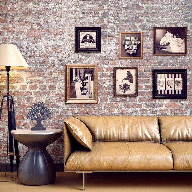 Фотография: Гостиная в стиле Лофт, Декор интерьера, Декор дома, Цвет в интерьере, Постеры – фото на InMyRoom.ru
