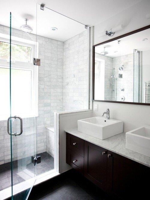 Фотография: Ванная в стиле Современный, Малогабаритная квартира, Квартира, Советы, Бежевый, Бирюзовый, Зонирование, как зонировать комнату, как зонировать однушку, как зонировать однокомнатную квартиру – фото на INMYROOM