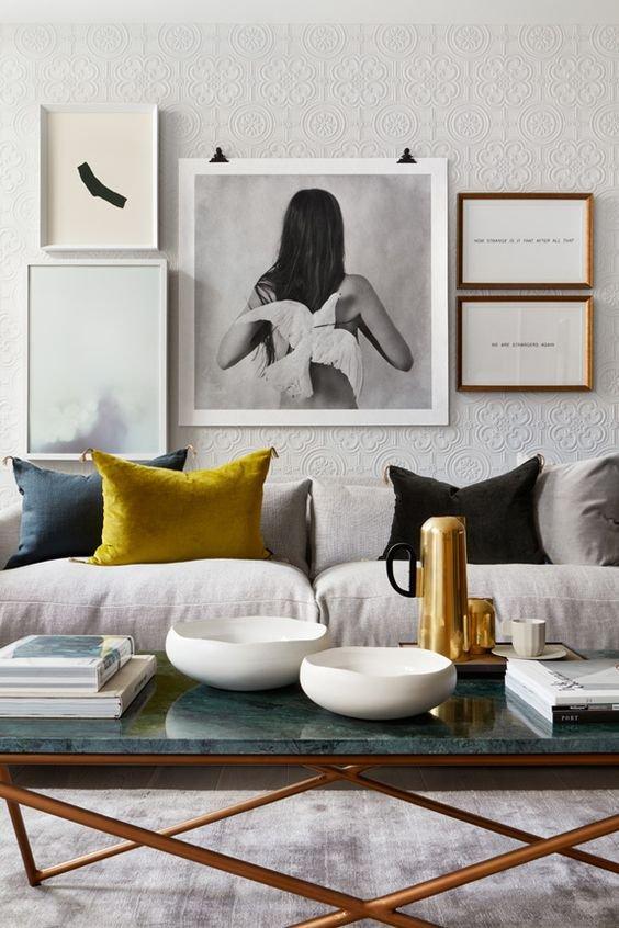 Фотография: Гостиная в стиле Современный, Советы, Желтый, Виктория Тарасова – фото на INMYROOM