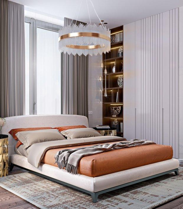Фотография: Спальня в стиле Современный, Классический, Квартира, Проект недели, Москва, 3 комнаты, 60-90 метров, Александра Гартке – фото на INMYROOM