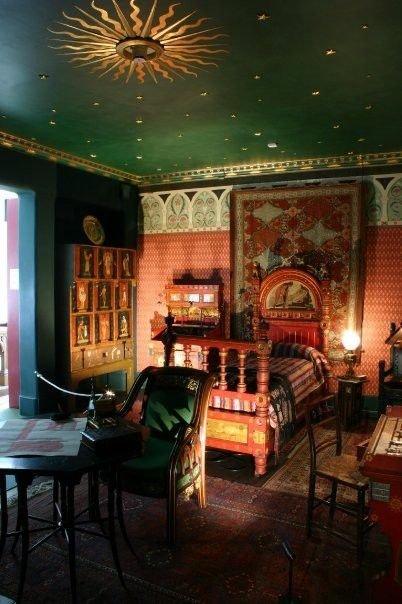 Фотография: Спальня в стиле Восточный, Декор интерьера, Дизайн интерьера, Цвет в интерьере, Потолок – фото на INMYROOM