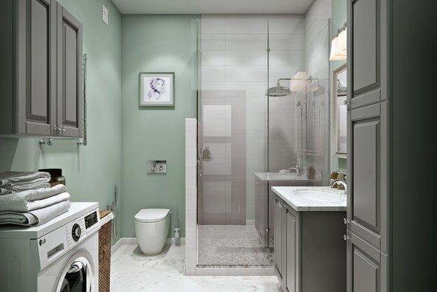Фотография: Ванная в стиле Современный, Лофт, Квартира, Проект недели – фото на INMYROOM