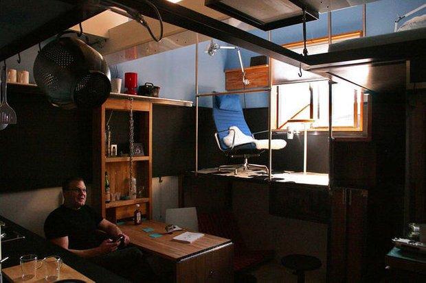 Фотография: Гостиная в стиле Современный, Эклектика, Малогабаритная квартира, Квартира, Мебель и свет, Эко – фото на InMyRoom.ru