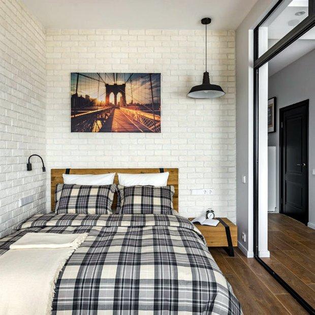 Фотография: Спальня в стиле Скандинавский, Классический, Лофт, Декор интерьера, Студия, Планировки, Белый, Черный, до 40 метров – фото на INMYROOM