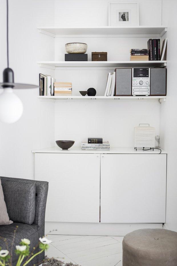 Фотография: Гостиная в стиле Скандинавский, Декор интерьера, Квартира, Швеция, Белый, Гетеборг, 2 комнаты, 40-60 метров – фото на INMYROOM