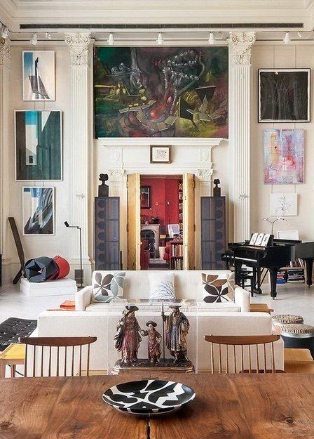 Фотография: Гостиная в стиле Современный, Эклектика, Дом, Дома и квартиры, Колониальный – фото на INMYROOM