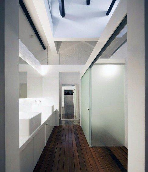 Фотография: Прихожая в стиле Минимализм, Квартира, Дома и квартиры, Лестница – фото на INMYROOM