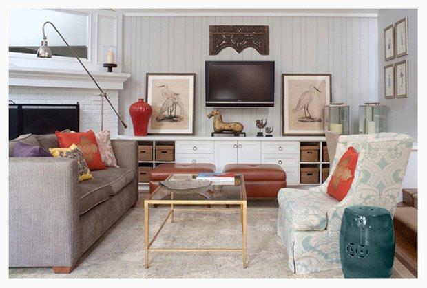 Фотография: Гостиная в стиле Классический, Современный, Восточный, Декор интерьера, Цвет в интерьере, Индустрия, Новости – фото на INMYROOM