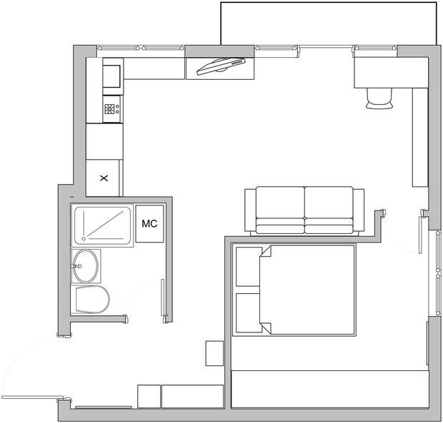 Фотография: Планировки в стиле , Классический, Малогабаритная квартира, Квартира, Декор, Дома и квартиры, IKEA, Проект недели – фото на INMYROOM