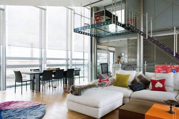 Фотография: Гостиная в стиле Современный, Квартира, Дома и квартиры, Лондон, Панорамные окна – фото на INMYROOM