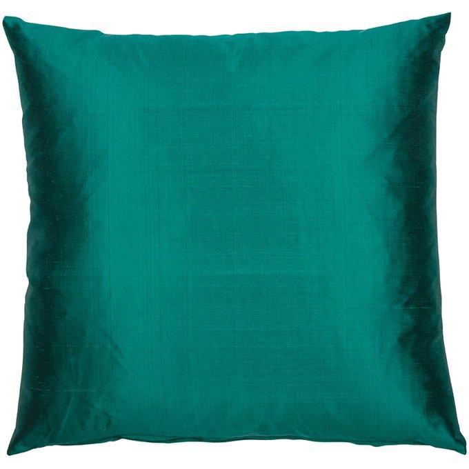Декоративная подушка Dupion темно-бирюзового цвета