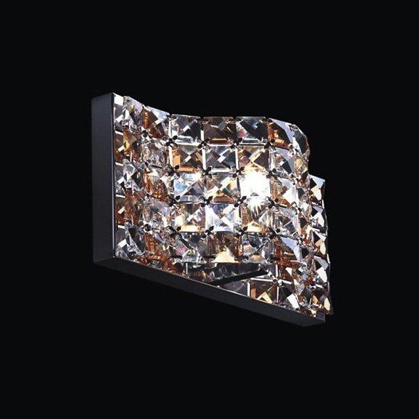 Настенный светильник Horizon с плафоном из хрустальных камней янтарного и прозрачного цвета