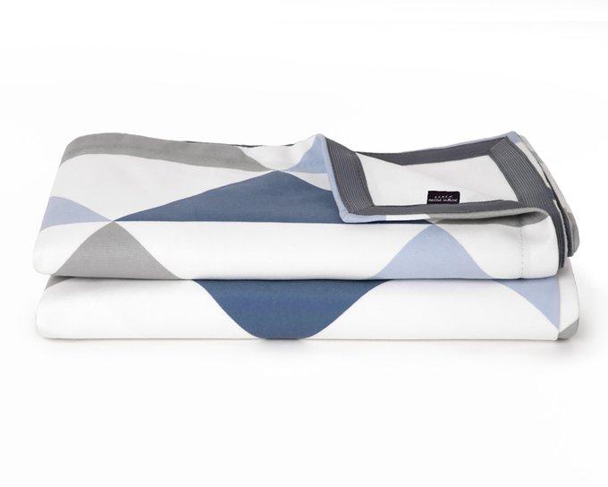 Покрывало Uno Olaf 140х210 с серо-синим узором