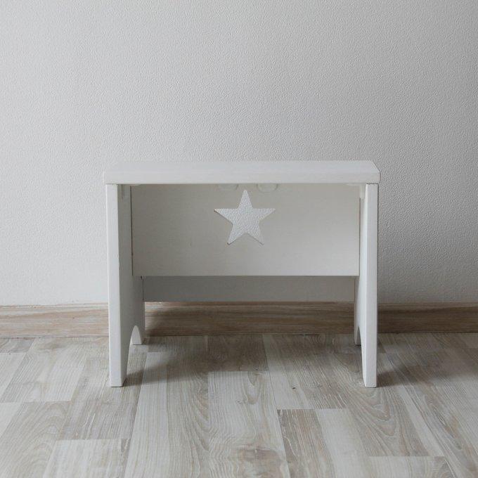 Табурет-лестница белый из дерева