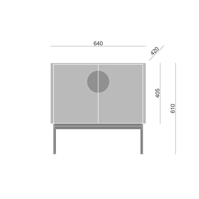Тумба Alto с дверцами светло-серого цвета