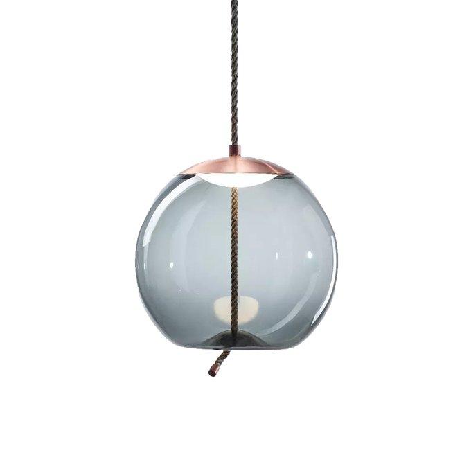 Подвесной светильник Knot C из стекла голубого цвета