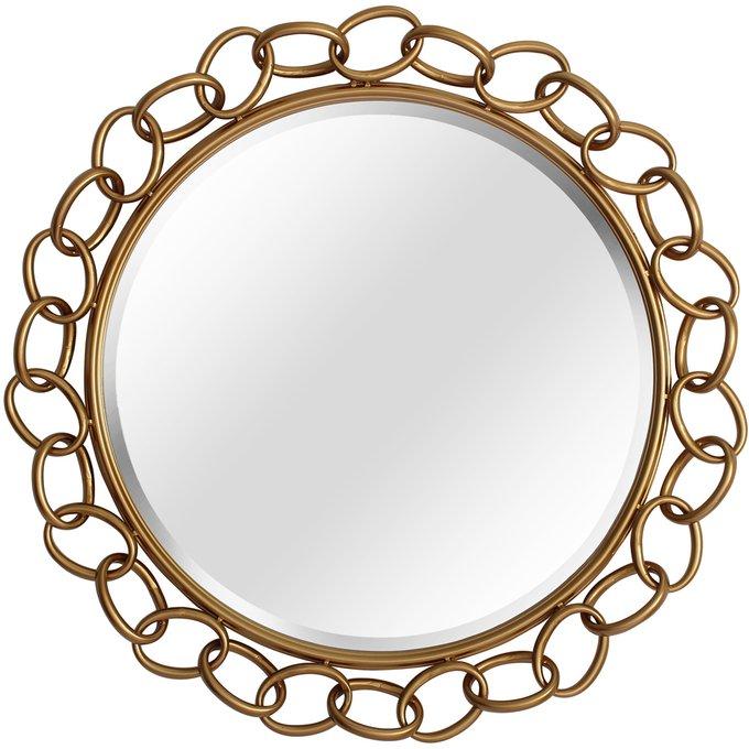 Настенное зеркало Голди в раме золотистого цвета