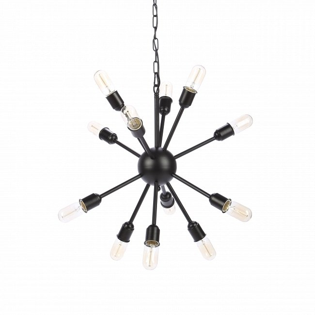 Подвесной светильник на цепи Molecule Lighting 12 ламп