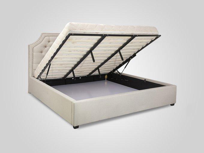 Кровать с подъемным механизмом бежевого цвета 180X200